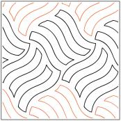 Wavy Gravy quilting pantograph pattern by Patricia Ritter of Urban Elementz