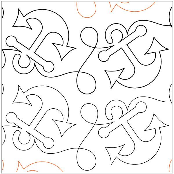 Anchors-Away-quilting-pantograph-pattern-Patricia-Ritter-Urban-Elementz