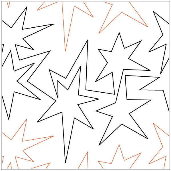 Shazam-quilting-pantograph-pattern-Patricia-Ritter-Urban-Elementz