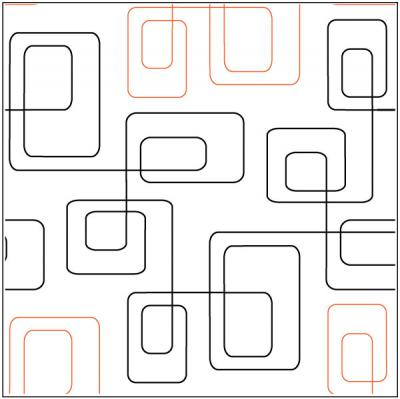 Bauhaus quilting pantograph pattern by Patricia Ritter of Urban Elementz