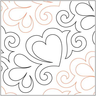 PS I Love You quilting pantograph pattern by Patricia Ritter