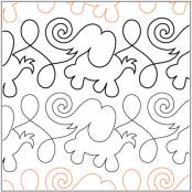 Animal Crackers Border Elephants pantograph pattern by Patricia Ritter of Urban Elementz