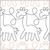 Animal-Crackers-Border-Giraffes-quilting-pantograph-pattern-Patricia-Ritter-Urban-Elementz
