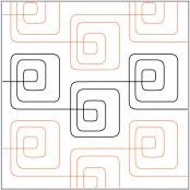 Bauhaus Baby quilting pantograph pattern by Patricia Ritter of Urban Elementz