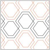 Diagonal-plaid-hexies-quilting-pantograph-pattern-Patricia-Ritter