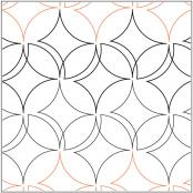 Easy Orange Peel quilting pantograph pattern by Patricia Ritter of Urban Elementz