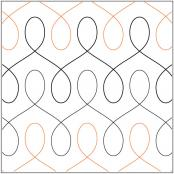 Modern Twist quilting pantograph pattern by Patricia Ritter of Urban Elementz