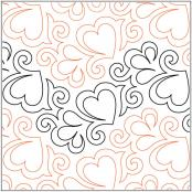 PS I Love You quilting pantograph pattern by Patricia Ritter 2