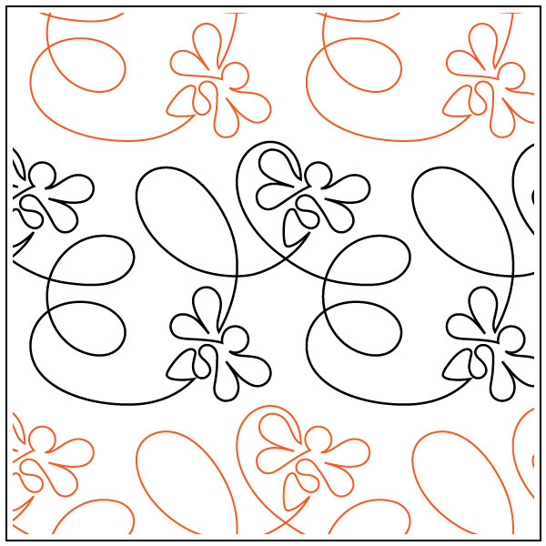 Take-Flight-Bee-quilting-pantograph-pattern-Patricia-Ritter-Urban-Elementz-2