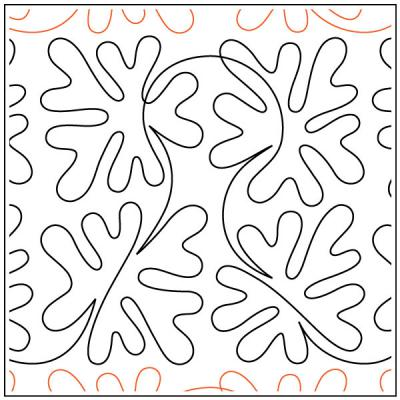 Catnip quilting pantograph pattern by Patricia Ritter of Urban Elementz