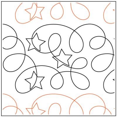 INVENTORY REDUCTION...Ragtime Stars quilting pantograph pattern by Patricia Ritter of Urban Elementz