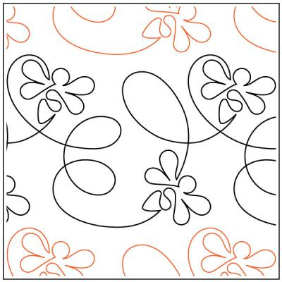 Take Flight Bee quilting pantograph pattern by Patricia Ritter of Urban Elementz