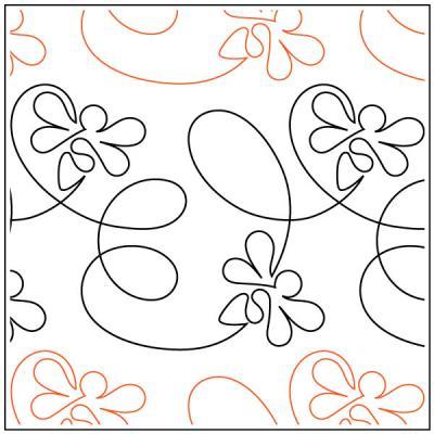 Take-Flight-Bee-quilting-pantograph-pattern-Patricia-Ritter-Urban-Elementz-1