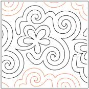 Hocus Pocus quilting pantograph pattern by Patricia Ritter of Urban Elementz