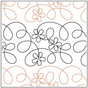Ragtime Flowers quilting pantograph pattern by Patricia Ritter of Urban Elementz