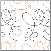 INVENTORY REDUCTION...Take Flight Butterfly quilting pantograph pattern by Patricia Ritter of Urban Elementz