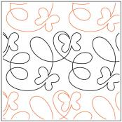 Take Flight Butterfly quilting pantograph pattern by Patricia Ritter of Urban Elementz 1