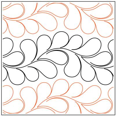 INVENTORY REDUCTION...Croissant Petite quilting pantograph pattern by Patricia Ritter of Urban Elementz