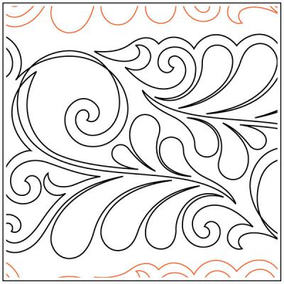 Tanzanite quilting pantograph pattern by Patricia Ritter & Jessica Shick