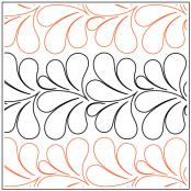 Chiffon Petite quilting pantograph pattern by Patricia Ritter