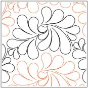 Chiffon quilting pantograph pattern by Patricia Ritter