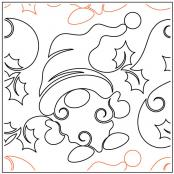 Christmas Gnome quilting pantograph pattern by Patricia Ritter of Urban Elementz