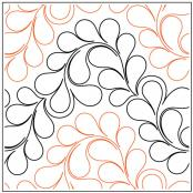 INVENTORY REDUCTION..Croissant quilting pantograph pattern by Patricia Ritter of Urban Elementz