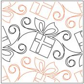 Gift Wrapped quilting pantograph pattern by Patricia Ritter of Urban Elementz