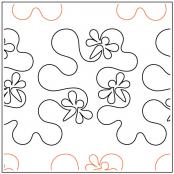 Hip Hop with Dragonflies quilting pantograph pattern by Patricia Ritter