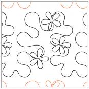Hip Hop with Flowers quilting pantograph pattern by Patricia Ritter