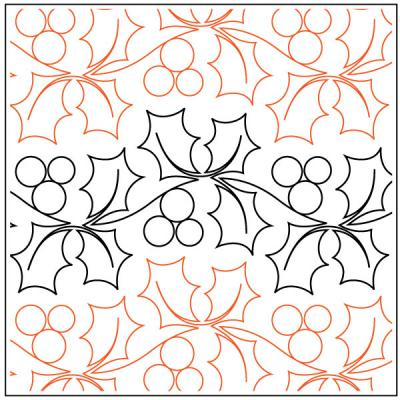 A Merry Lil Christmas Petite quilting pantograph pattern by Patricia Ritter of Urban Elementz