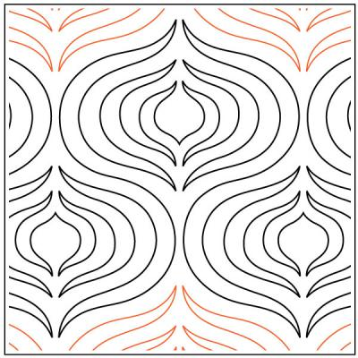 Andalusia quilting pantograph pattern by Patricia Ritter Urban Elementz