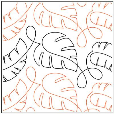 Cozumel quilting pantograph pattern by Patricia Ritter and Denise Schillinger