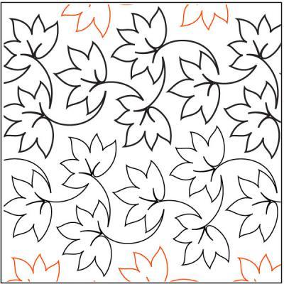 Fall Foliage pantograph pattern by Patricia Ritter of Urban Elementz