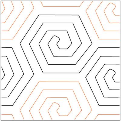 Honeycomb quilting pantograph pattern by Urban Elementz