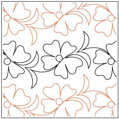 Kauai Petite quilting pantograph pattern by Patricia Ritter Urban Elementz