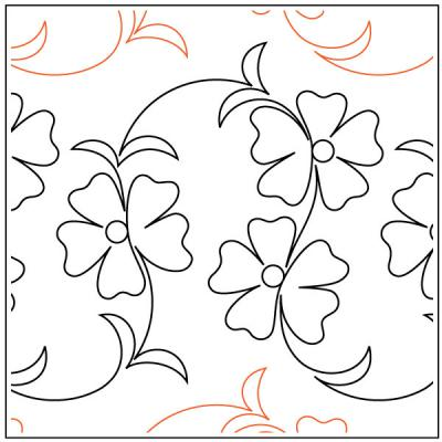 INVENTORY REDUCTION...Kauai quilting pantograph pattern by Patricia Ritter Urban Elementz