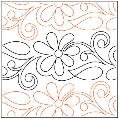 Perennial Petite quilting pantograph pattern by Patricia Ritter and Denise Schillinger