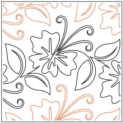 Tropical Paradise quilting pantograph pattern by Patricia Ritter and Denise Schillinger