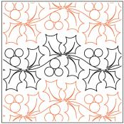 INVENTORY REDUCTION...A Merry Lil Christmas Petite quilting pantograph pattern by Patricia Ritter of Urban Elementz