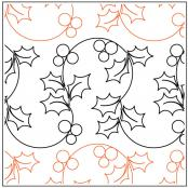 A Merry Lil Christmas quilting pantograph pattern by Patricia Ritter of Urban Elementz 1