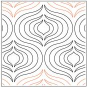 INVENTORY REDUCTION...Andalusia quilting pantograph pattern by Patricia Ritter Urban Elementz