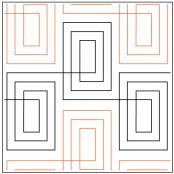 Checkered Plaid Elongated quilting pantograph pattern by Patricia Ritter Urban Elementz