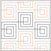 Checkered Plaid quilting pantograph pattern by Patricia Ritter Urban Elementz