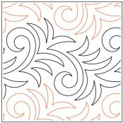 Conifer quilting pantograph pattern by Patricia Ritter and Denise Schillinger