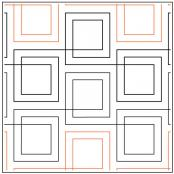 Gingham Plaid quilting pantograph pattern by Patricia Ritter Urban Elementz