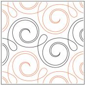 Happy quilting pantograph pattern by Patricia Ritter and Denise Schillinger