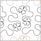 Hip Hop Clover quilting pantograph pattern by Patricia Ritter Urban Elementz