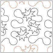 Hip Hop Starz quilting pantograph pattern by Patricia Ritter Urban Elementz