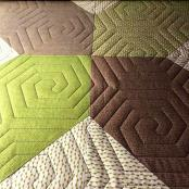 Honeycomb quilting pantograph pattern by Urban Elementz 1